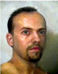 Self portrait by Nashville portrait artist Jammie Williams
